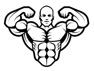 Bodybuilder 2 Decal Sticker
