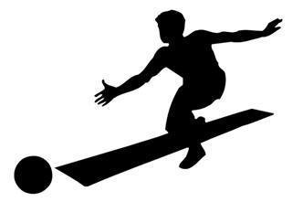bowling silhouette decal sticker