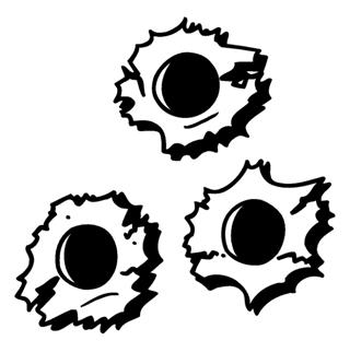Bulletholes Decal Sticker
