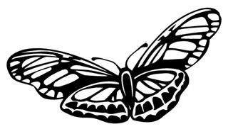 Butterfly v2 Decal Sticker