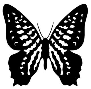Butterfly v9 Decal Sticker