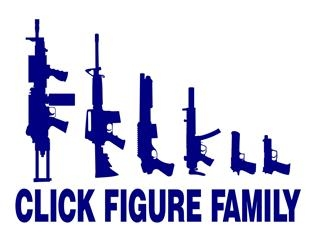 Click Figure Family Decal Sticker