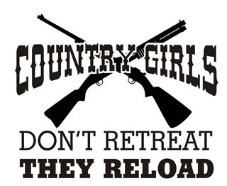 Country Girls Don't Retreat Decal Sticker