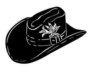 Cowboy Hat v3 Decal Sticker