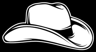 2bc08542 Cowboy Hat Decal Sticker