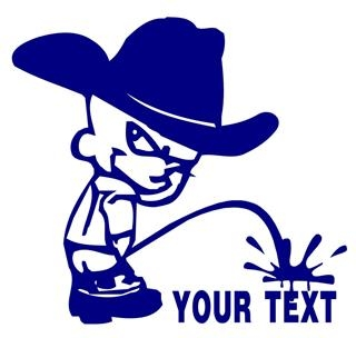 Cowboy Pee On Decal Sticker