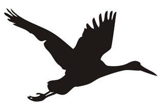 Crane Bird Silhouette v2 Decal Sticker