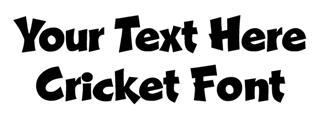 Cricket Font Decal Sticker