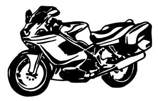 Crotch Rocket v1 Decal Sticker