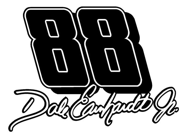 Dale jr 88 with signature decal sticker