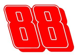 Dale Jr 88 Decal Sticker
