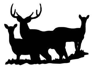 Deer Silhouette v6 Decal Sticker