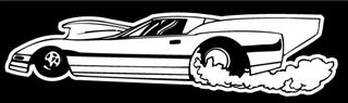 Dragster Burnout Decal Sticker
