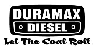 Duramax Let The Coal Roll v2 Decal Sticker
