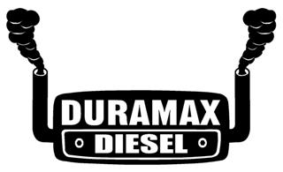 Duramax with Stacks Decal Sticker