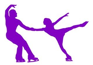 Figure Skating Pair v3 Decal Sticker