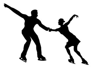 Figure Skating Pair v4 Decal Sticker