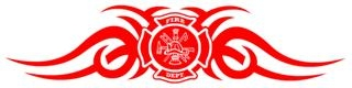 Fire Dept Shield Tribal v4 Decal Sticker