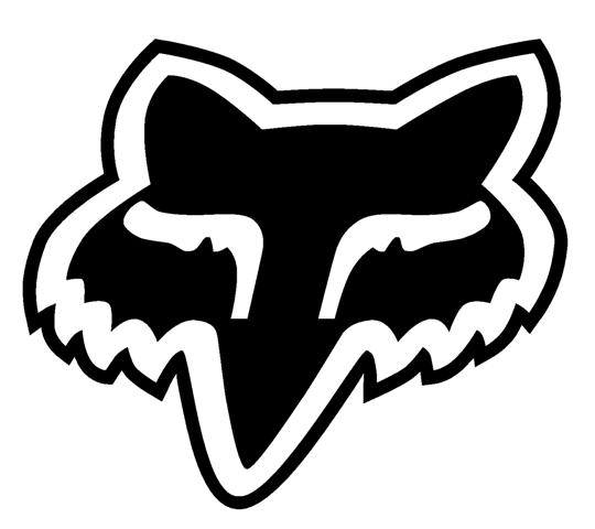 fox head logo decal sticker