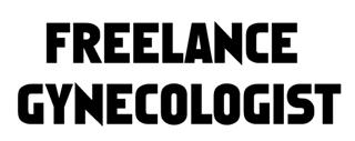 Freelance Gynecologist Decal Sticker