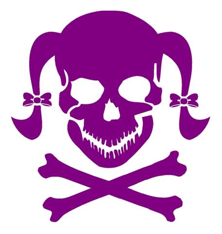 Girly skull 2 decal sticker