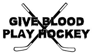 Give Blood Play Hockey Decal Sticker