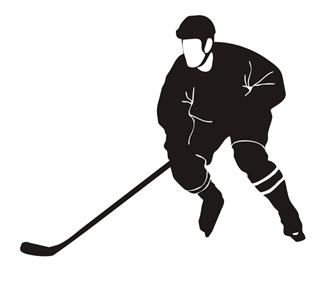 Hockey Player v9 Decal Sticker