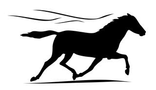 Horse Silhouette v1 Decal Sticker