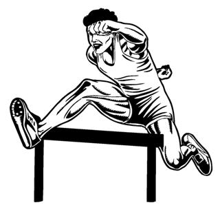 Hurdler Male Decal Sticker