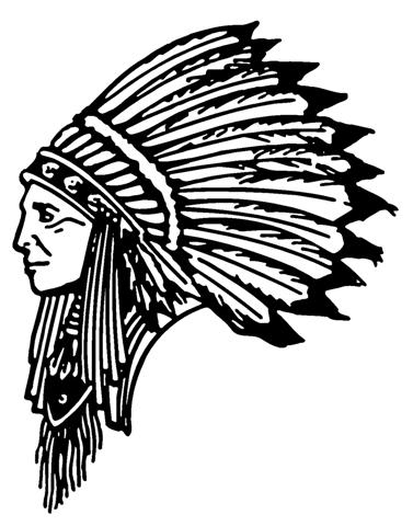 Indian chief 3 decal sticker