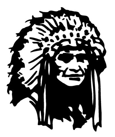 Indian chief 4 decal sticker