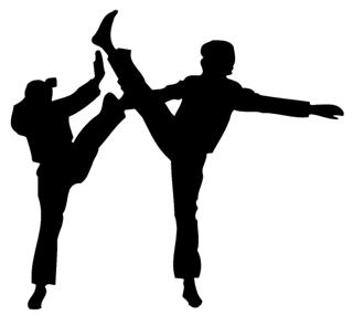Karate Silhouette 1 Decal Sticker