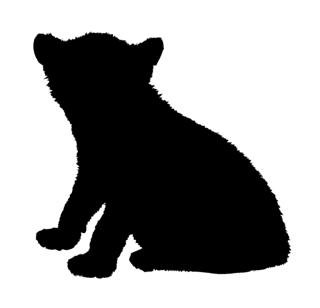 Lion Cub Silhouette  Decal Sticker