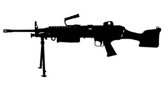 M249 SAW Machine Gun Decal Sticker