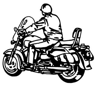 Man On Motorcycle v1 Decal Sticker