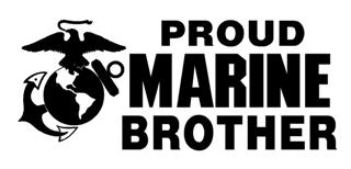 Marine Brother Decal Sticker