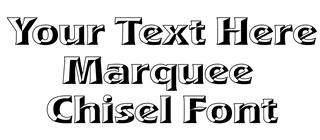 Marquee Chisel Font Decal Sticker