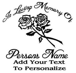 Memorial with Roses v3 Decal Sticker