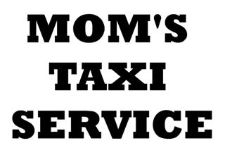 Mom's Taxi Service Decal Sticker