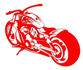 Motorcycle v1 Decal Sticker