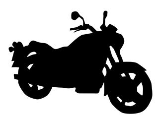 Motorcycle Silhouette v1 Decal Sticker