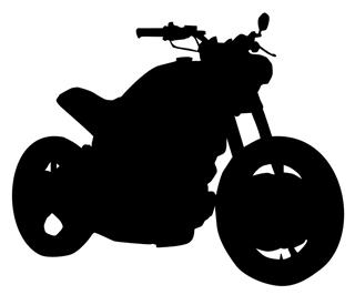 Motorcycle Silhouette v3 Decal Sticker