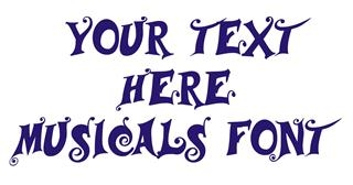 Musicals Font Decal Sticker