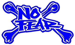 No Fear Cross Bones Decal Sticker