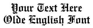 Old English Font Decal Sticker