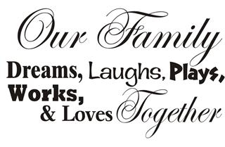Our Family - Together Decal
