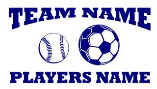 Personalized Softball-Soccer 2 Decal Sticker
