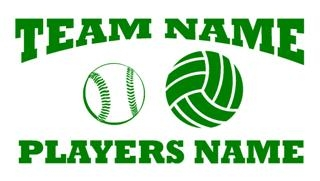 Personalized Softball-Volleyball 2 Decal Sticker