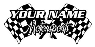 Personalized Motorsports 2 Decal Sticker