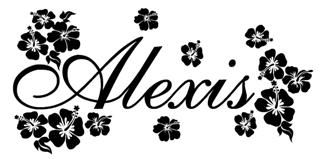 Personalized Name with Hibiscus Decal Sticker